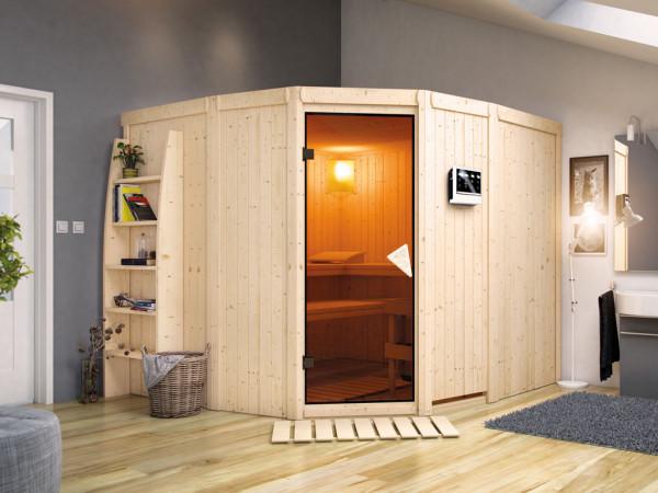 Sauna Systemsauna Simara 3 inkl. 9 kW Bio-Kombiofen ext. Steuerung