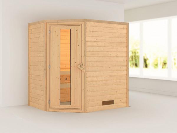 Sauna Massivholzsauna Cilja Energiespartür
