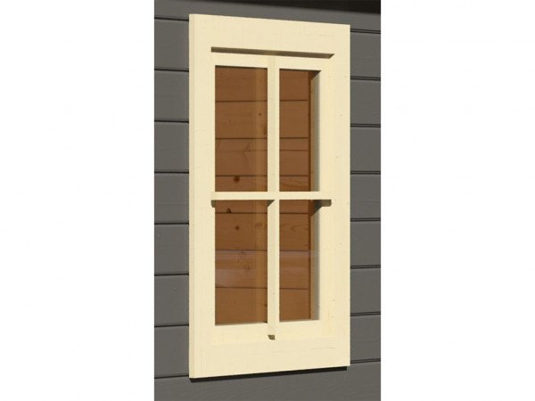 Fenster elfenbeinweiß für 28 mm Gartenhaus oder Pavillon