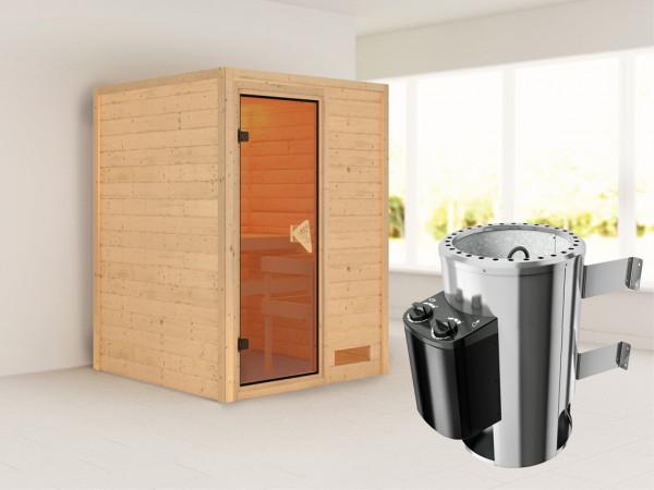 """Sauna Massivholzsauna """"Nadja"""" inkl. Plug & Play Saunaofen Steuerung"""