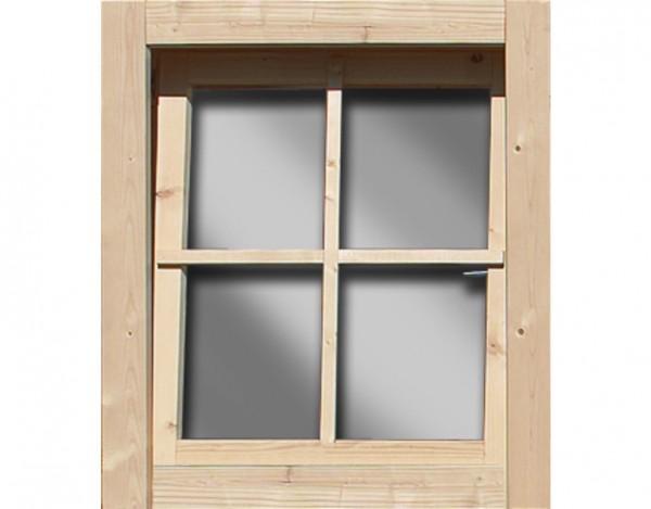 Fenster für 28 mm Gartenhaus oder Pavillon,naturbelassen