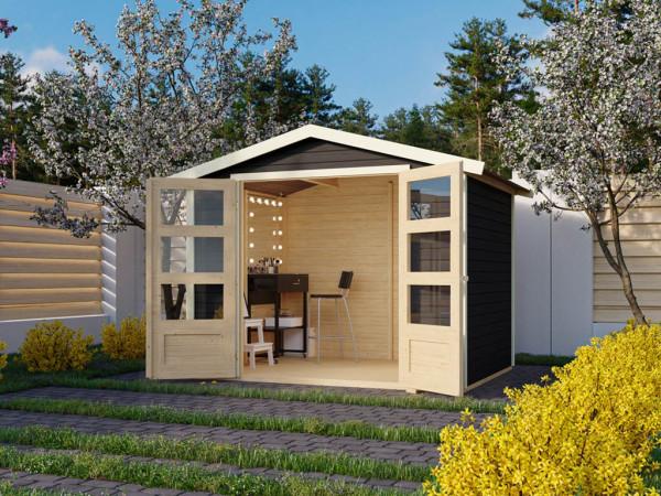 Gartenhaus Carlton 4 19 mm terragrau