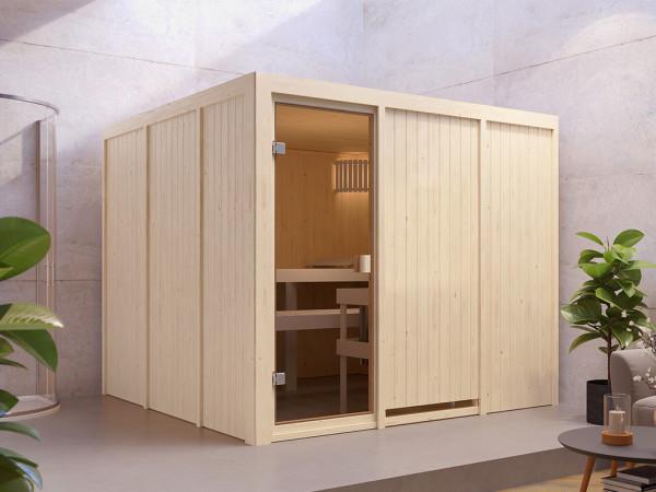 Sauna Systemsauna SPARSET Celine 8 inkl. 8 kW Ofen mit int. Steuerung