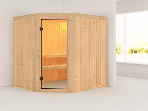 Sauna Systemsauna SPARSET Celine 1 inkl. 6,8 kW Ofen mit ext. Steuerung