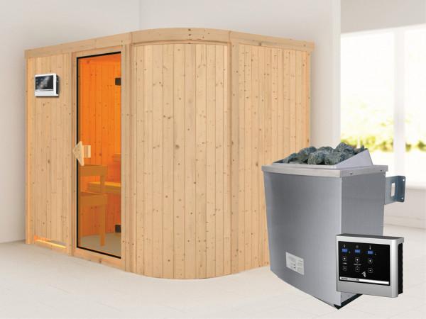 Sauna Systemsauna Titania 4 inkl. 9 kW Saunaofen ext. Steuerung