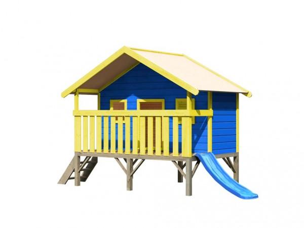 Spielhaus Set Farbig Maxi naturbelassen