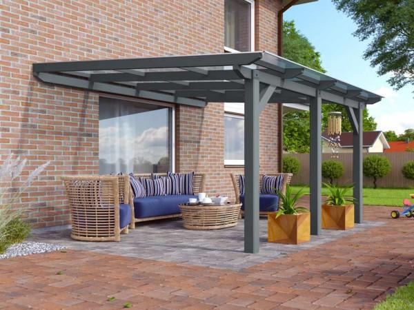 Terrassenüberdachung Modell 1 Silbergrau