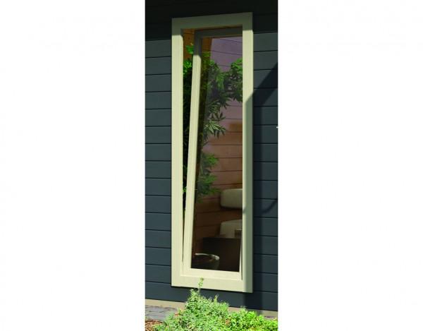 Fenster elfenbeinweiß für Gartenhäuser Corner Cube und Multi Cube