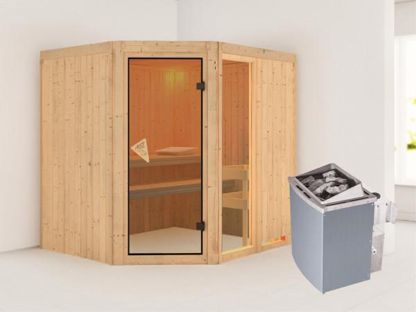 Sauna Systemsauna Fiona 2 inkl. 9 kW Saunaofen intergr. Steuerung