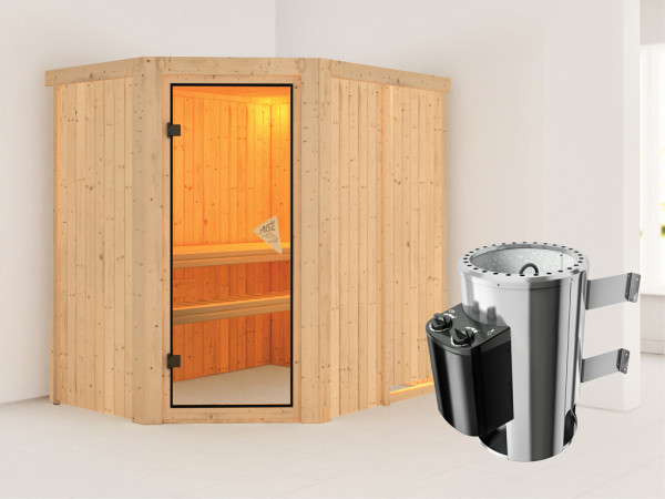 Sauna Systemsauna Saja inkl. Plug & Play Saunaofen Steuerung