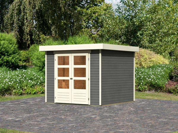 Gartenhaus Askola 3,5 19 mm terragrau