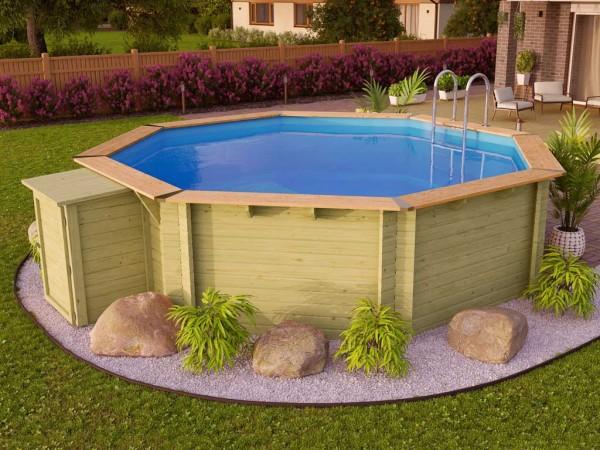 Pool Holzpool SET Premium Modell 2 A inkl. Komfort Ausstattung