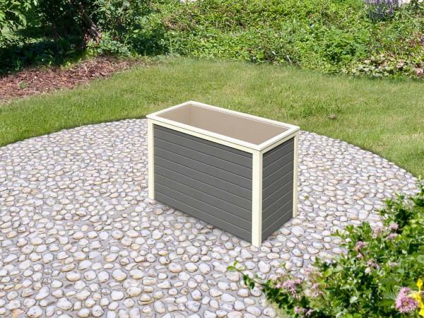 Hochbeet 19 mm terragrau mit opt. Schrankoption