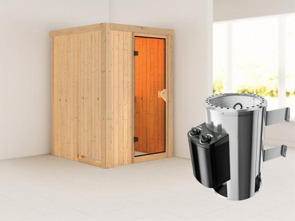 Sauna Systemsauna Lenja inkl. Plug & Play Saunaofen Steuerung