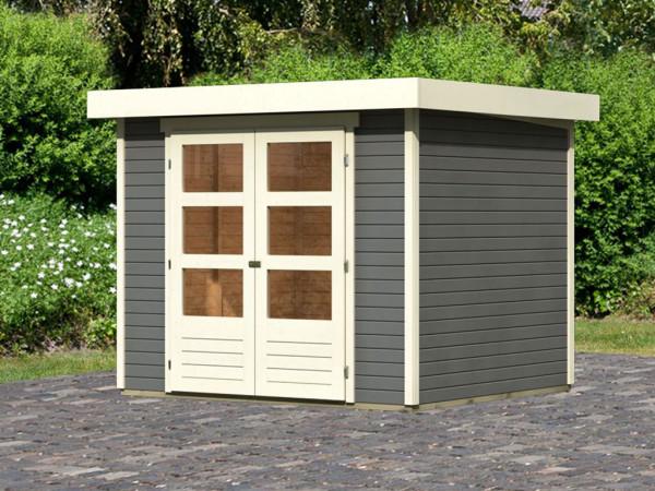 Gartenhaus Askola 3 19 mm terragrau