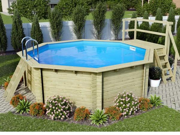"Pool Holzpool SET ""Modell 2 B"" inkl. Superior Ausstattung"