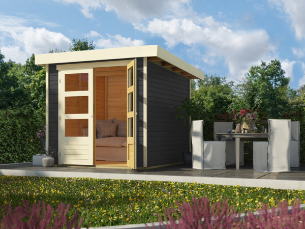 Gartenhaus Askola 2 19 mm terragrau