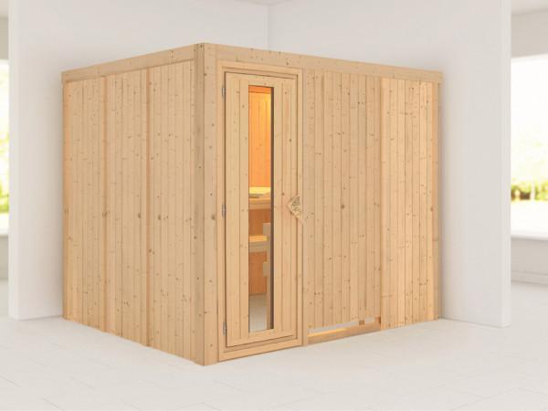 Systemsauna Gobin Holztür mit Isolierglas