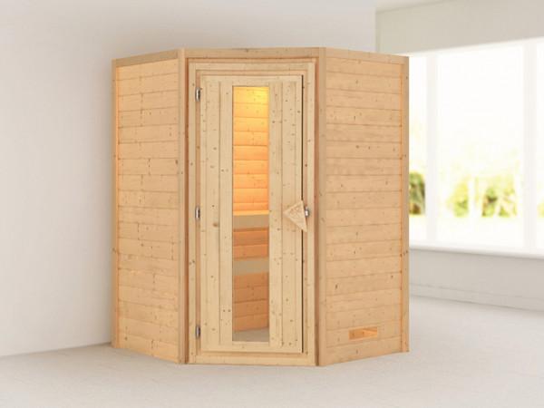 Sauna Massivholzsauna Alicja Energiespartür