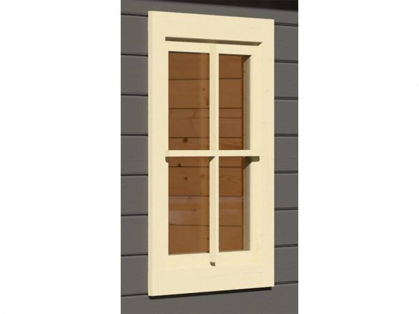 Dreh-/Kippfenster elfenbeinweiß für 38 mm Gartenhäuser