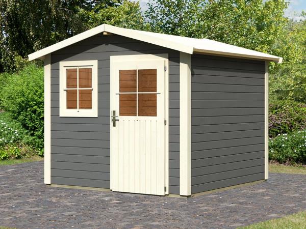 Gartenhaus Mainau 4 28 mm terragrau