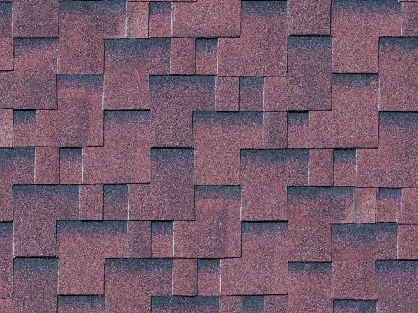 Dachschindeln Asymetrisch rot-geflammt
