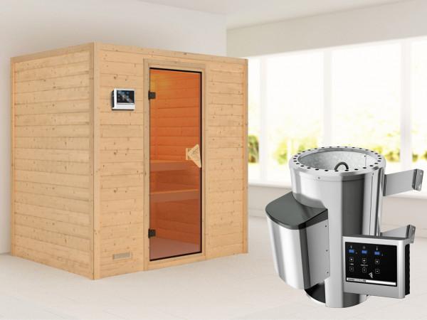 Sauna Massivholzsauna Ronja inkl. Plug & Play Saunaofen externe Steuerung