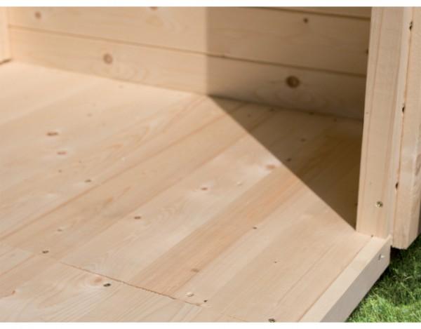 Fußboden passend für Sockelmaß 238 x 242 cm