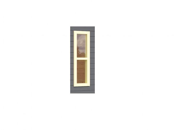 Fenster 28 mm elfenbeinweiß