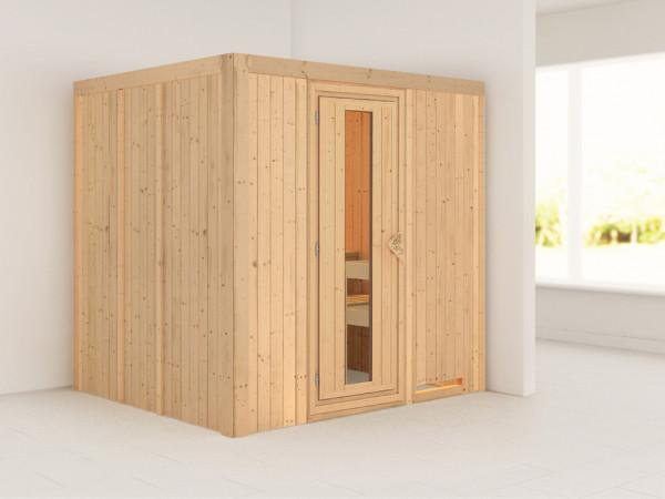 Systemsauna Sodin Holztür mit Isolierglas