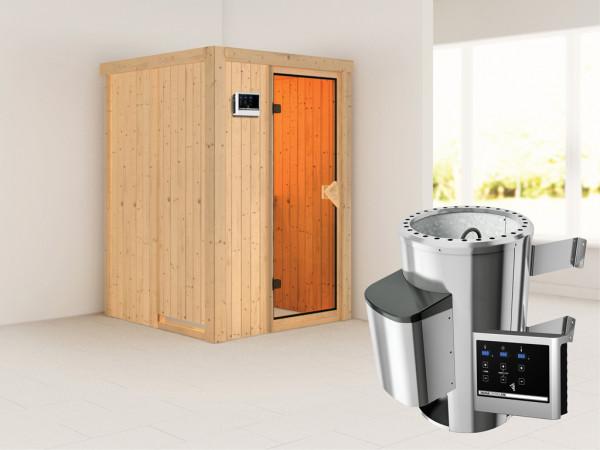 Sauna Systemsauna Lenja inkl. Plug & Play Saunaofen externe Steuerung