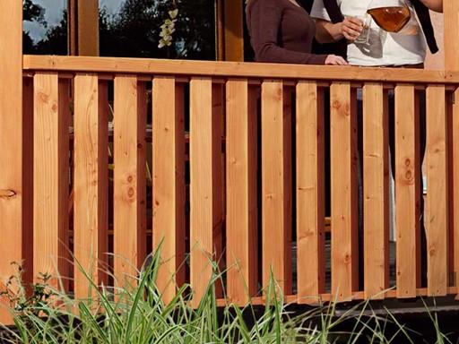 Brüstung Douglasie für Terrassenüberdachungen Douglasie Modell 1, 2 und 3