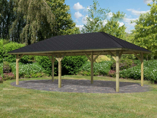 Pavillon SPARSET Holm 2 CLASSIC, inkl. Dachschindeln