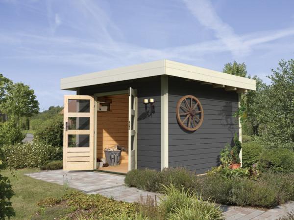"""Gartenhaus """"Diemelsee"""" 28 mm terragrau"""