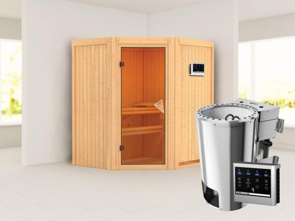 Sauna Systemsauna Tonja inkl. Plug & Play Bio-Ofen externe Steuerung