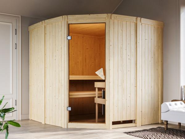 Sauna Systemsauna Simara 1 inkl. 9 kW Saunaofen ext. Steuerung