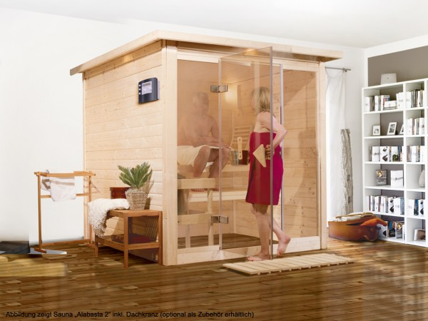 Sauna Premiumsauna Massivholzsauna Alabasta 2
