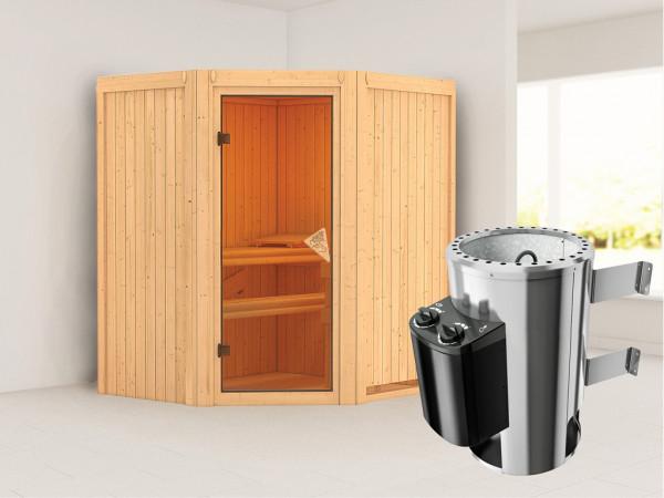"""Sauna Systemsauna """"Tonja"""" inkl. Plug & Play Saunaofen Steuerung"""