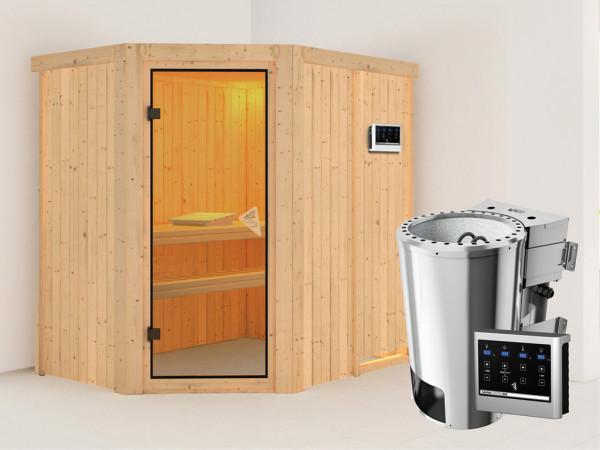 Sauna Systemsauna Saja inkl. Plug & Play Bio-Ofen externe Steuerung
