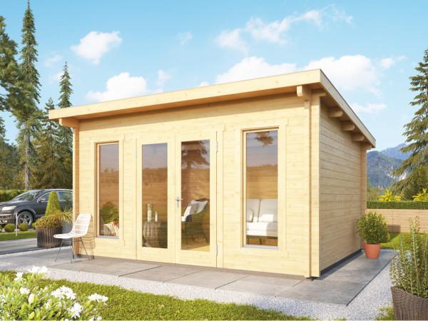 Gartenhaus Blockbohlenhaus Stavanger 1 70 mm naturbelassen inkl. Fußboden