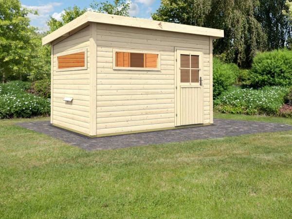 Saunahaus Sven mit Vorraum & extra Sauna Fenster