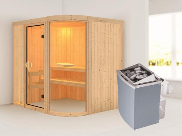 Sauna Systemsauna Parima 2 inkl. 9 kW Saunaofen integr. Steuerung