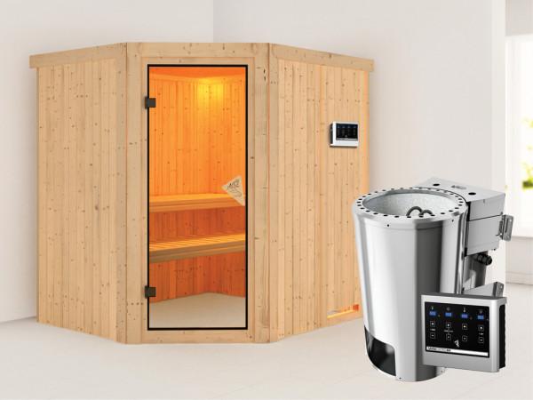 Sauna Systemsauna Lilja inkl. Plug & Play Bio-Ofen externe Steuerung