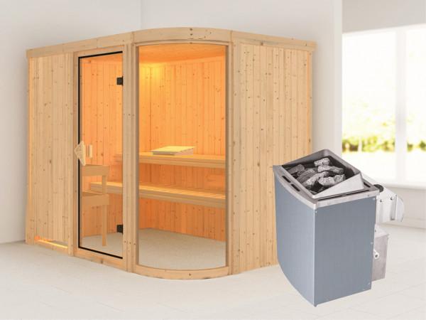Sauna Systemsauna Parima 4 inkl. 9 kW Saunaofen integr. Steuerung