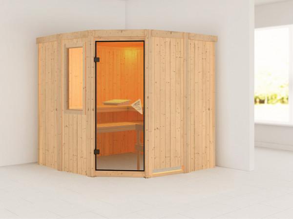 Sauna Systemsauna Simara 1 mit Fenster